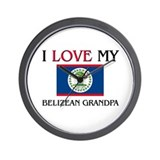 I Love My Belizean Grandpa Wall Clock