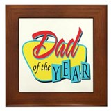 Dad of the Year Framed Tile