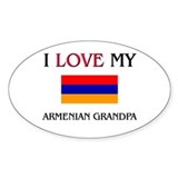 I Love My Armenian Grandpa Oval Decal