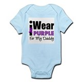 Purple Ribbon Daddy Onesie