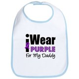 Purple Ribbon Daddy Bib