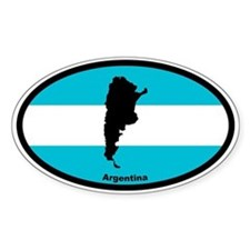 Argentina Outline & Flag Oval Decal