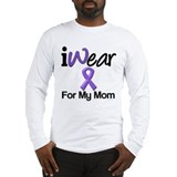 Purple Ribbon Mom Long Sleeve T-Shirt
