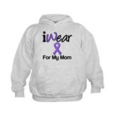 Purple Ribbon Mom Hoody