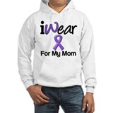 Purple Ribbon Mom Hoodie