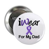"Purple Ribbon Dad 2.25"" Button (10 pack)"