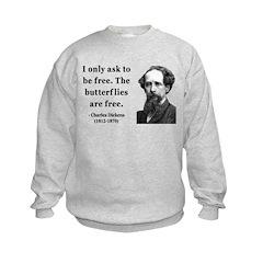 Charles Dickens 17 Kids Sweatshirt