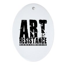 Art is Resistance Oval Ornament