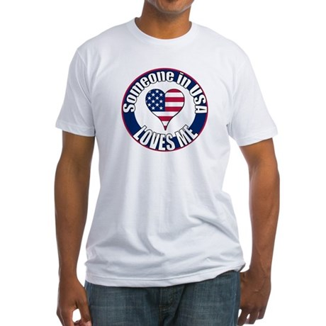 USA Love Fitted T-Shirt