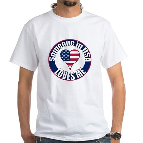 USA Love White T-Shirt