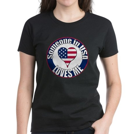 USA Love Women's Dark T-Shirt
