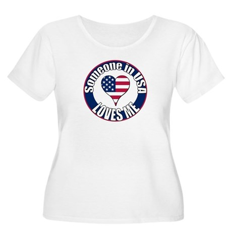 USA Love Women's Plus Size Scoop Neck T-Shirt
