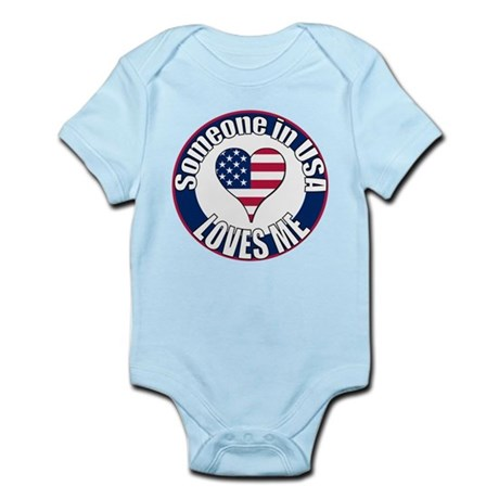 USA Love Infant Bodysuit