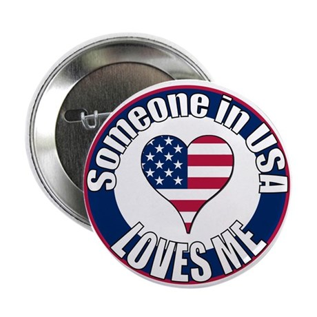 "USA Love 2.25"" Button (100 pack)"