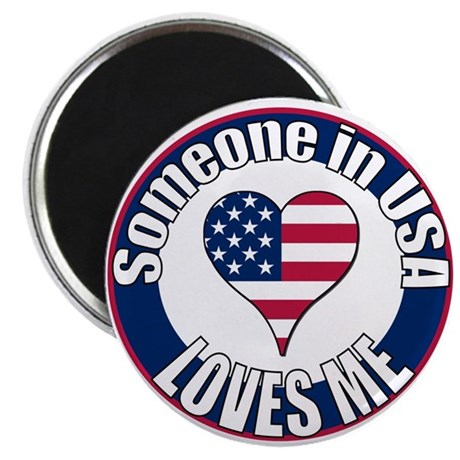 "USA Love 2.25"" Magnet (10 pack)"