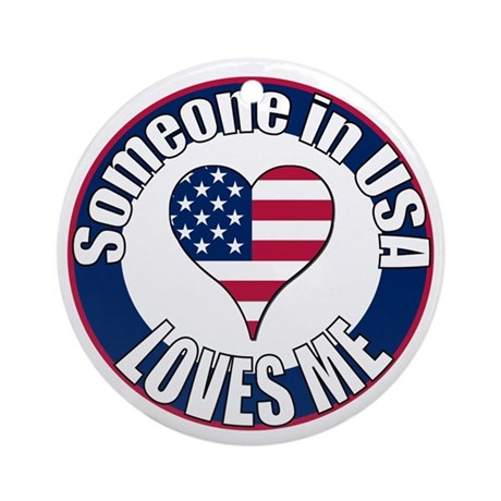 USA Love Ornament (Round)