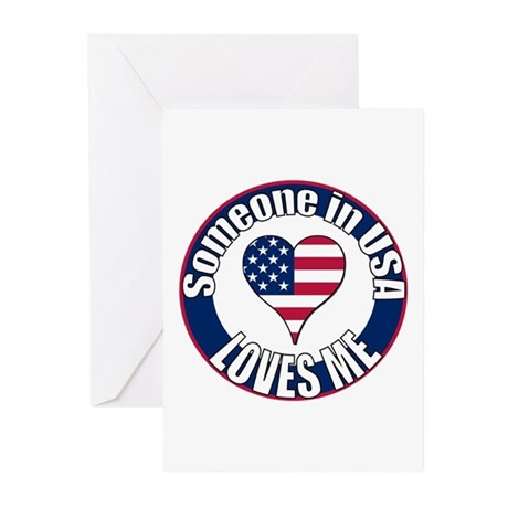 USA Love Greeting Cards (Pk of 10)