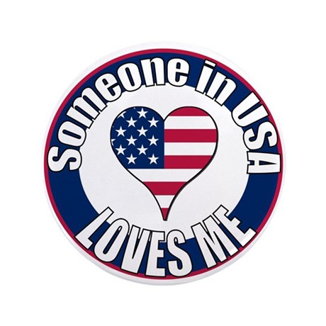 "USA Love 3.5"" Button"