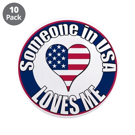 "USA Love 3.5"" Button (10 pack)"