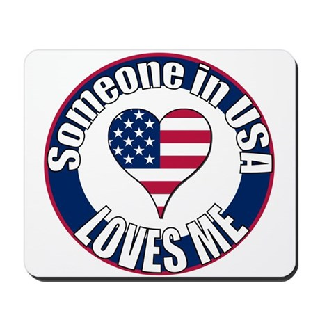 USA Love Mousepad