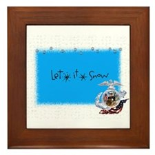 let it snow marine Framed Tile