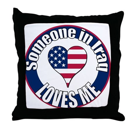 Iraq Love Throw Pillow