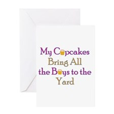 Unique Boys to the yard Greeting Card