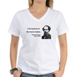 Charles Dickens 3 Women's V-Neck T-Shirt
