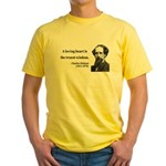 Charles Dickens 3 Yellow T-Shirt