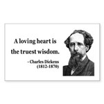 Charles Dickens 3 Rectangle Sticker