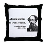 Charles Dickens 3 Throw Pillow