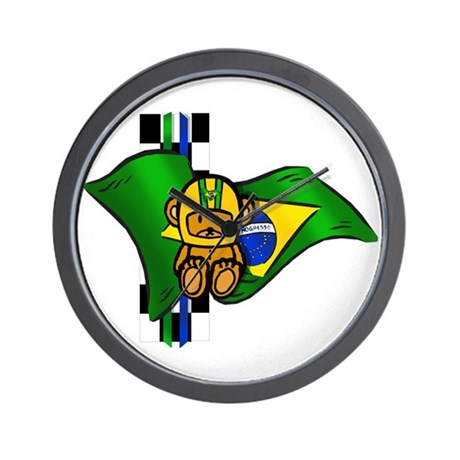 Auto Racing  Gifts on Auto Racing Gifts   Auto Racing Clocks   Brazil Racing Driver Wall