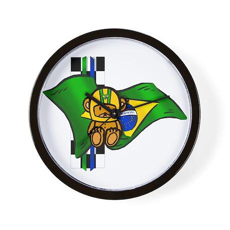 Auto Racing Driver on Auto Racing Gifts   Auto Racing Clocks   Brazil Racing Driver Wall