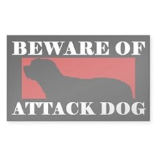 Beware of Attack Dog Catalan Sheepdog Decal