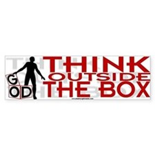 Think Outside Box Bumper Bumper Sticker