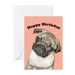 Pug Puppy Birthday Cards (Pk of 10)