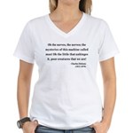 Charles Dickens 19 Women's V-Neck T-Shirt