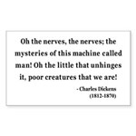 Charles Dickens 19 Rectangle Sticker