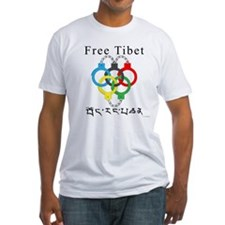 2008 Beijing Olympic Handcuffs Fitted T-Shirt
