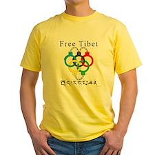 2008 Beijing Olympic Handcuffs Yellow T-Shirt