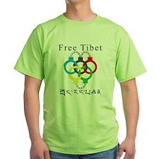 2008 Beijing Olympic Handcuffs Green T-Shirt