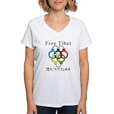 2008 Beijing Olympic Handcuffs Women's V-Neck T-Sh