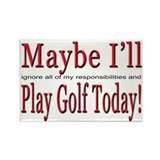 Play Golf Rectangle Magnet