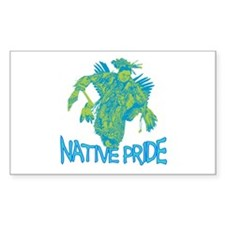 Native Pride Rectangle Decal