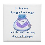 Jar of Hope Tile Coaster