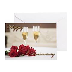 Masonic Anniversary card Greeting Card