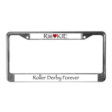 Roller Derby Rookie License Plate Frame