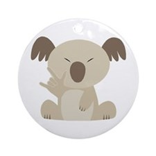 I Love You Koala Ornament (Round)