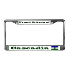 Proud Citizen of Cascadia License Frame - White