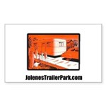 Red Trailer Park Rectangle Sticker